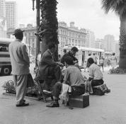 Engraxates no Anhangabaú - 1960
